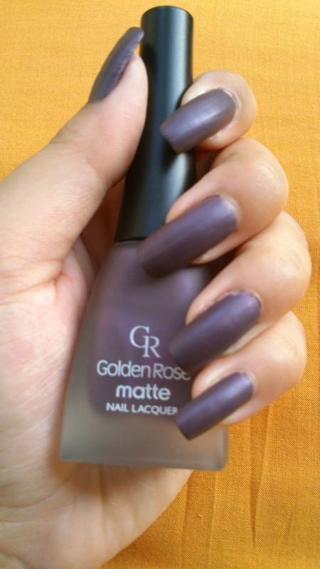 Golden Rose Paris Golden rose matte nail lacquer 06 Swatch by Haniya Sajid