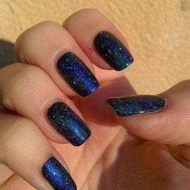 Galaxy Nails nail art by Franziska FrankieHuntersNails