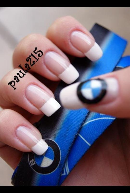 BMW nail art by Paula215. NAILS