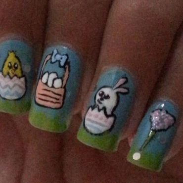 Easter nail art nail art by misha321