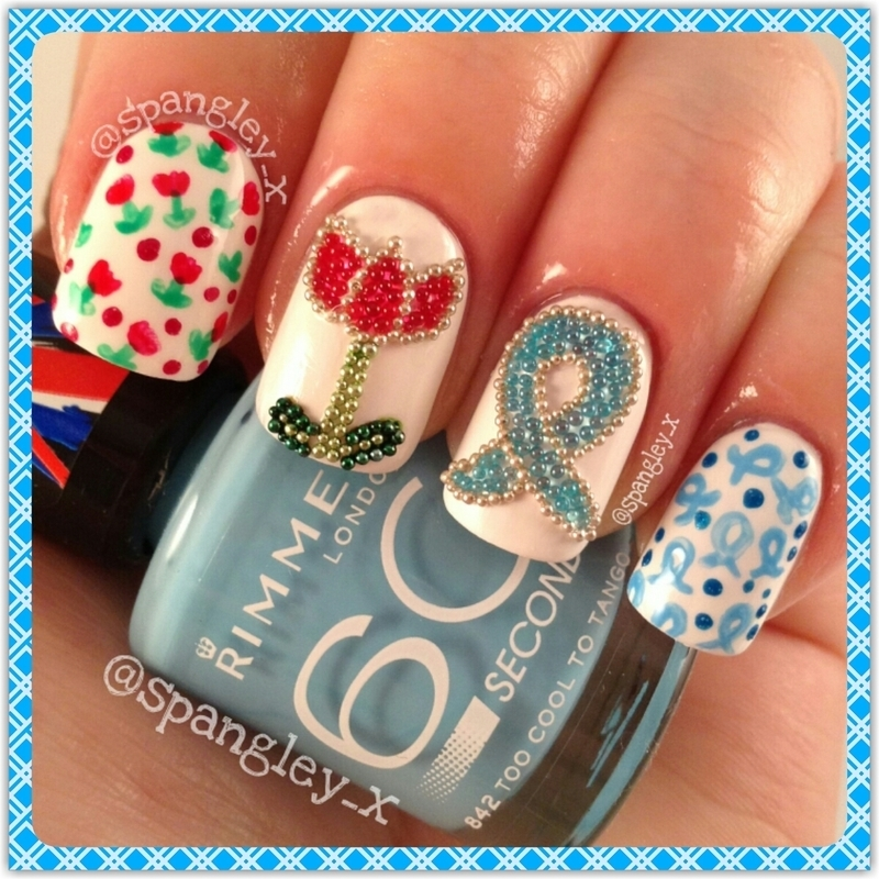 World Parkinsons Day Nail Art nail art by Nicole Louise