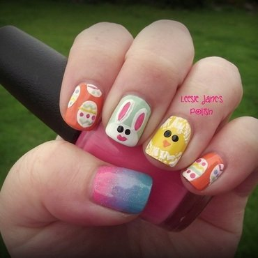 Easter Nail Art nail art by Lisa Overend