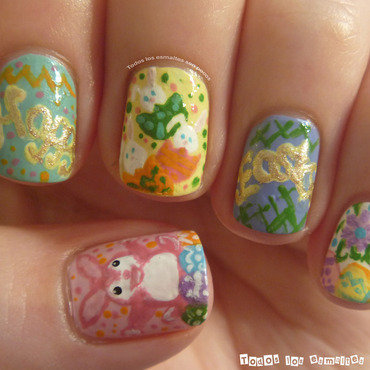 Happy Easter! nail art by Maria