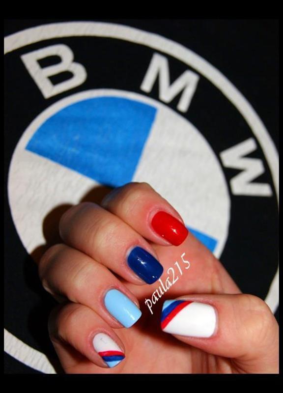 BMW M Power. nail art by Paula215. NAILS