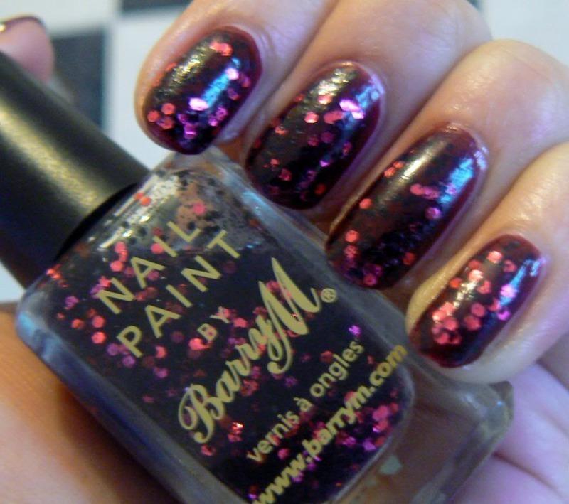 Barry M Ruby Glitter Swatch by Aysha Baig
