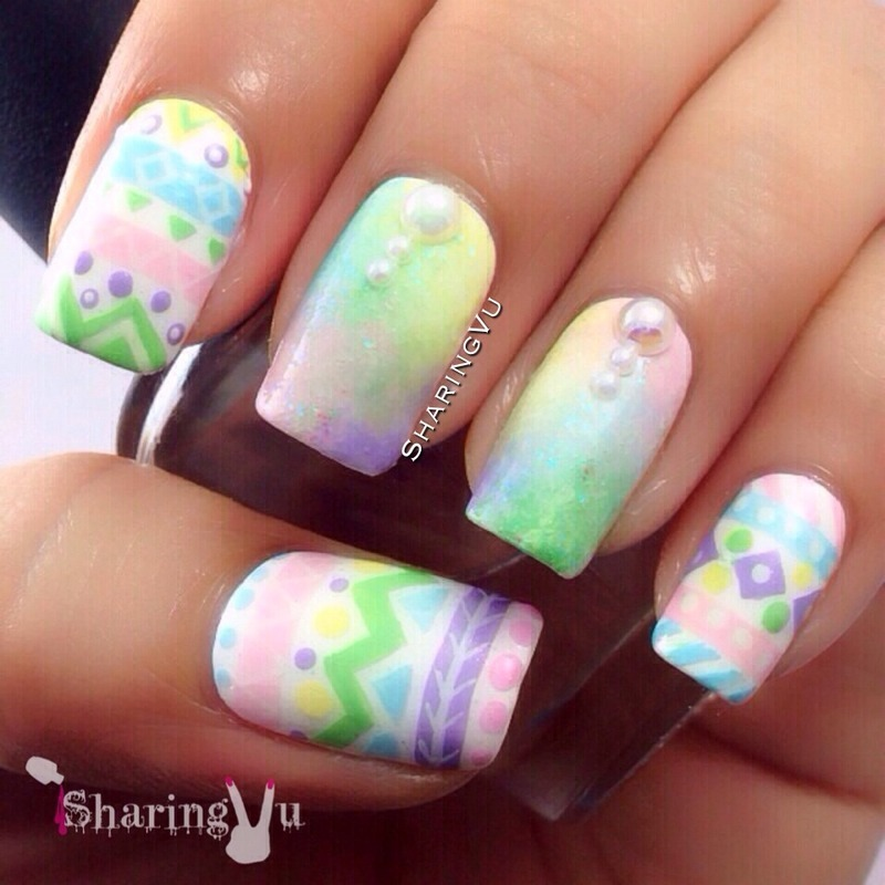 Easter Nail nail art by SharingVu