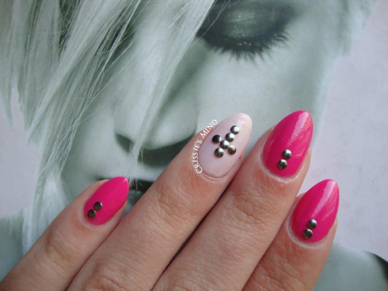 Pink Nails With Round Studs Nail Art By Christina Nailpolis
