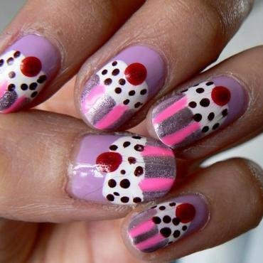 Cupcake Nails nail art by Aysha Baig