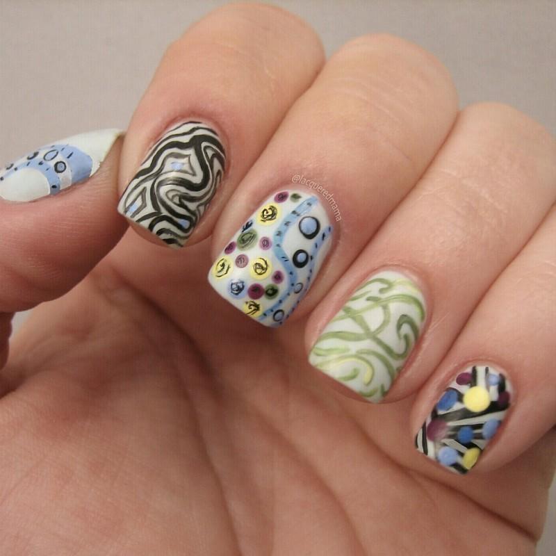 Google Image Inspired nail art by Jennifer Collins