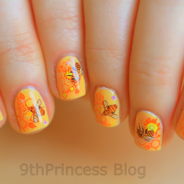 Secret life of bees nail art by 9th Princess