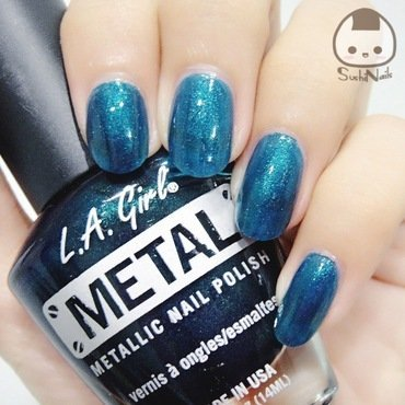 L.A. Girls Metallic Nail Polish Deep Sea Mica Swatch by sushinails