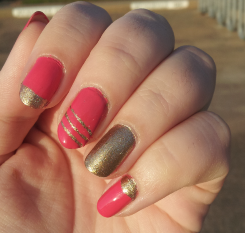 Pink and Gold nail art by Stephanie Stark - Nailpolis: Museum of ...
