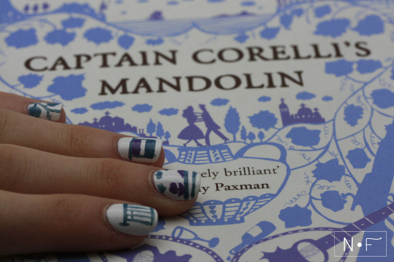 Book inspiration nail art by NerdyFleurty