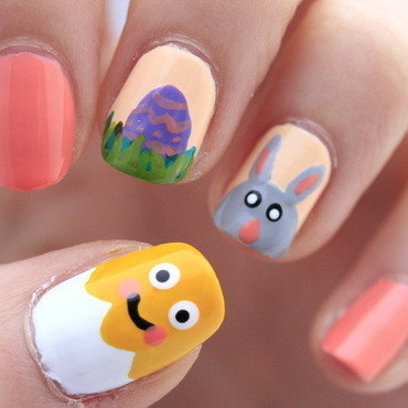 Easter nails nail art by NerdyFleurty