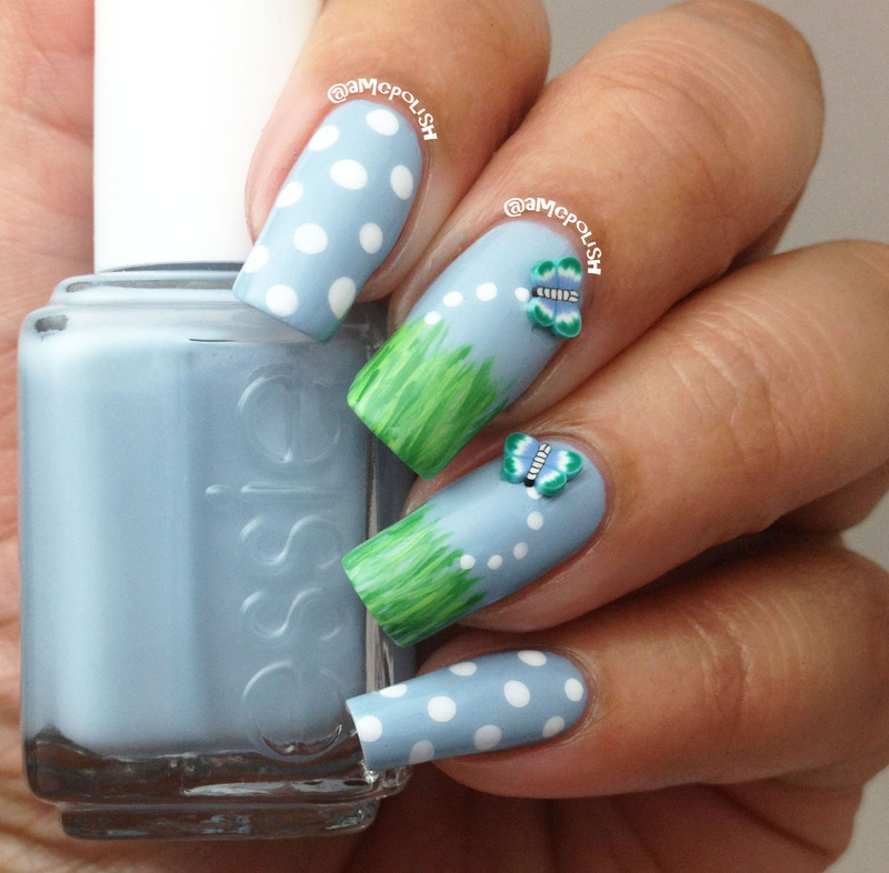 Spring nail art by Amber Connor