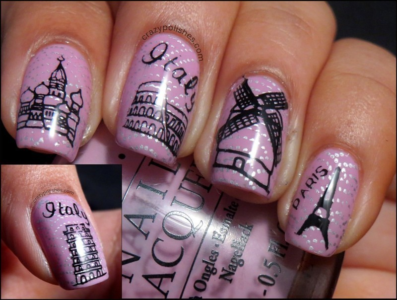 Visit Europe this Summer nail art by CrazyPolishes (Dimpal)