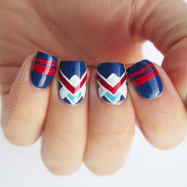 Nail art navy thumb370f