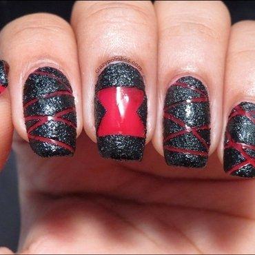 Recreated-  Black Widow Nail art nail art by CrazyPolishes (Dimpal)