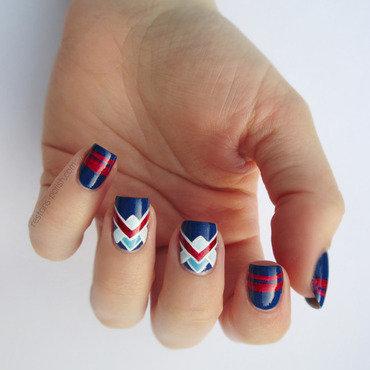 Retro navy nail art thumb370f
