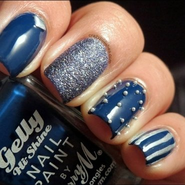 Blue Skittle nail art by CrazyPolishes (Dimpal)