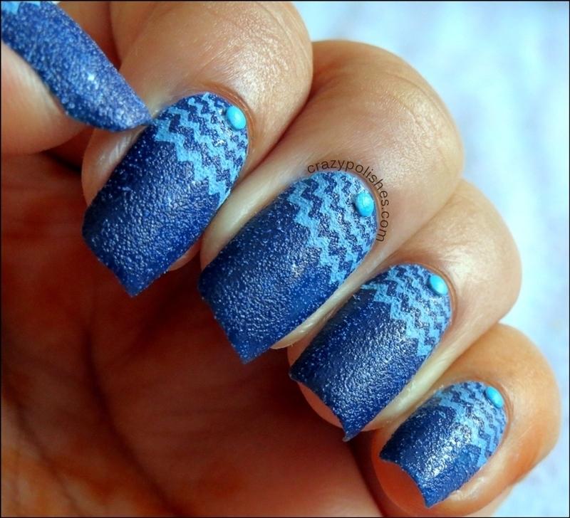 Halfmoon Manicure nail art by CrazyPolishes (Dimpal)