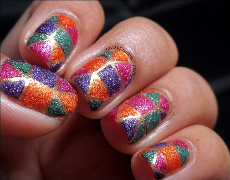 Textured Tape Nail Art nail art by CrazyPolishes (Dimpal)