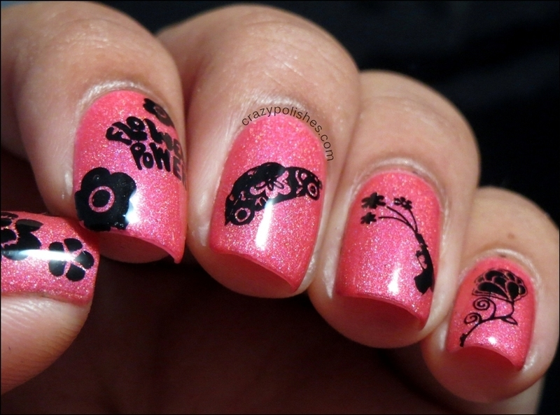 Flower Power nail art by CrazyPolishes (Dimpal)