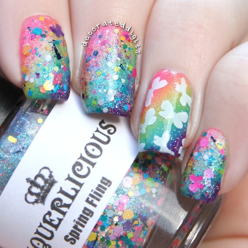 Spring Fling nail art by Jordan