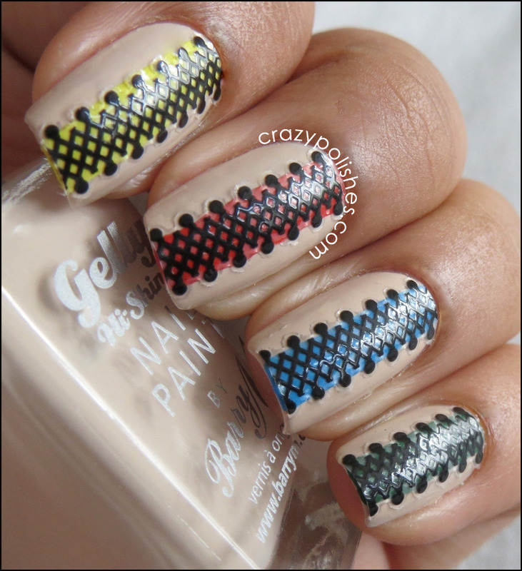 Lace nail art by CrazyPolishes (Dimpal)