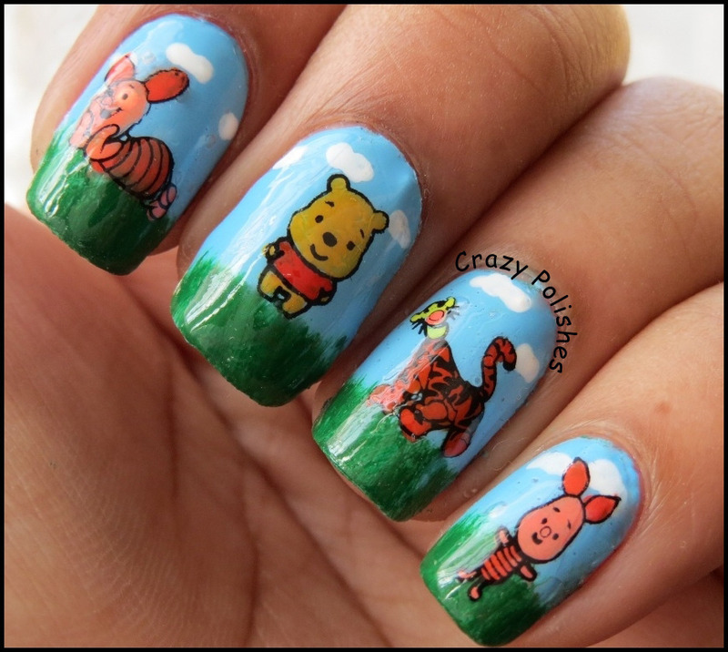 Winnie The Pooh Nail Art By Crazypolishes Dimpal Nailpolis