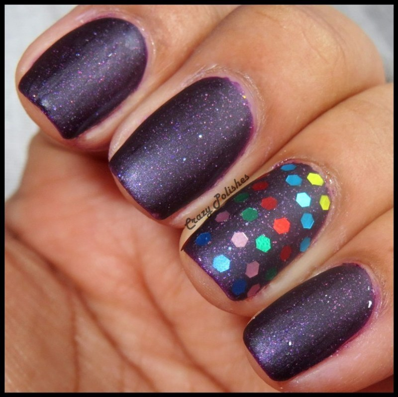 Accent nail art by CrazyPolishes (Dimpal)