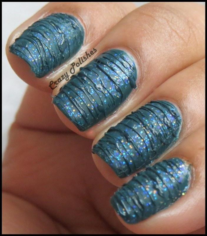 Sugar Spun nail art by CrazyPolishes (Dimpal)