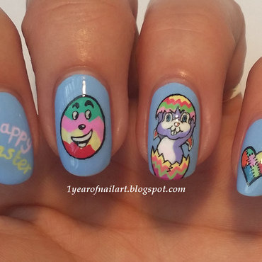 Happy Easter! nail art by Margriet Sijperda
