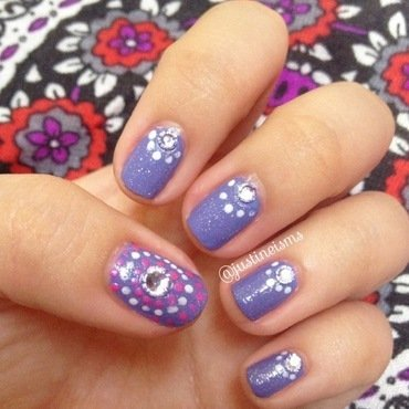Pastel Purple nail art by ℐustine
