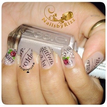 No News Paper Nail Art nail art by Nailsbyrizz