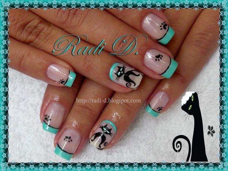 Cats nail art by Radi Dimitrova