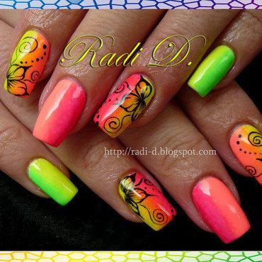 Rainbow nails nail art by Radi Dimitrova