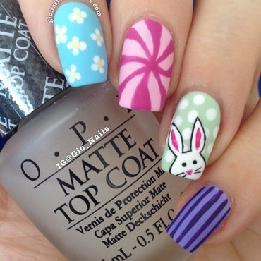 Bunny Brought Me Fancy Eggs nail art by Giovanna - GioNails