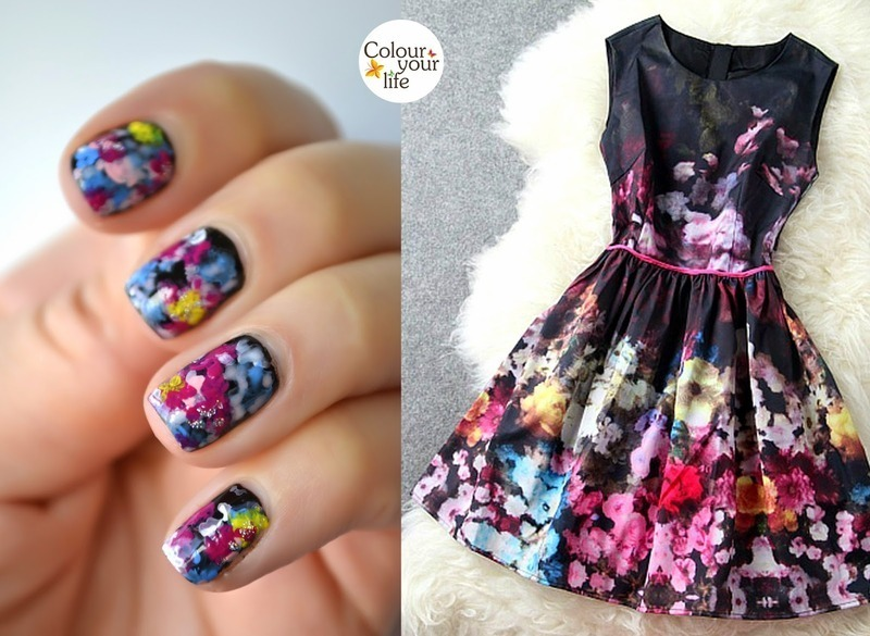 Match the dress nail art by Andrea  Manases