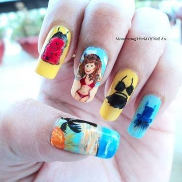Summer dresses nail art thumb370f