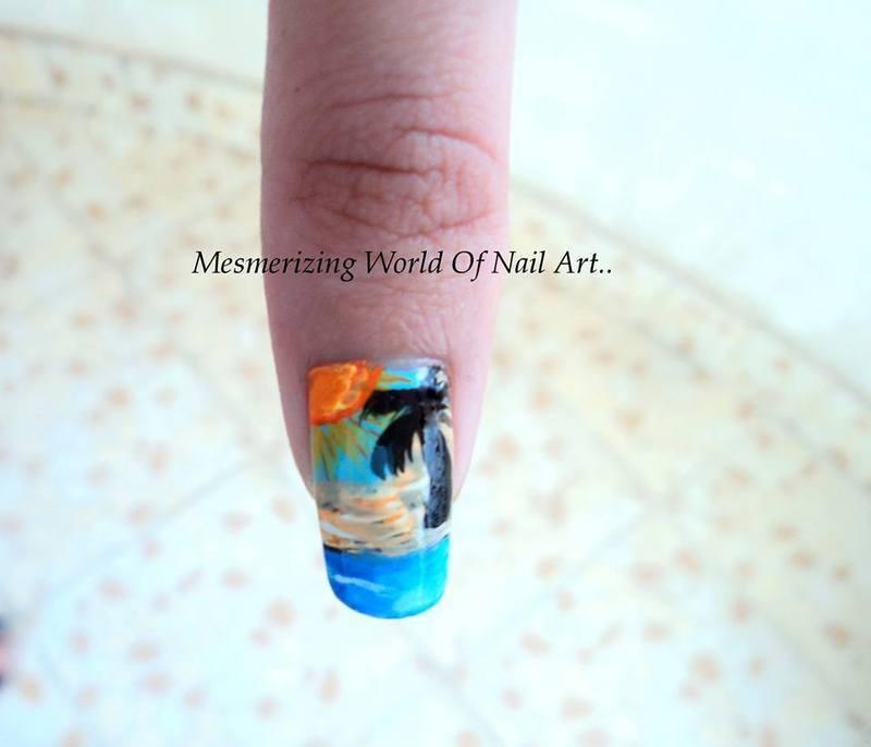Beach nail art  nail art by Anubhooti Khanna