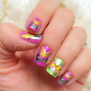 Easter candy-wrap nail art by Anna-Maria D