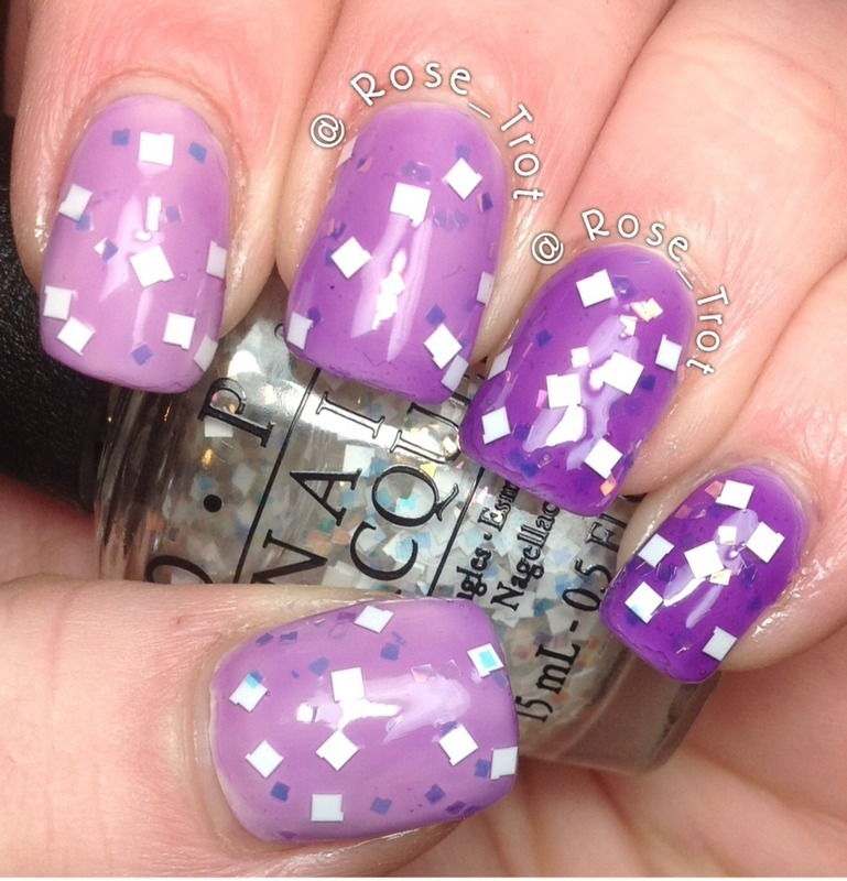 Purple jelly ombre nail art by Rose_Trot
