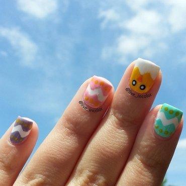 Easter chick! nail art by kEElyN mARiN