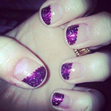 Purple Cloud Corner nail art by Kayla