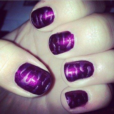Purple Matte Tiger nail art by Kayla