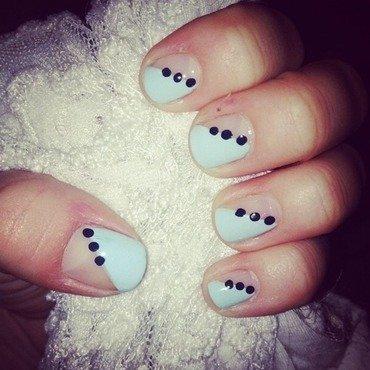 Diagonal Dots nail art by Kayla
