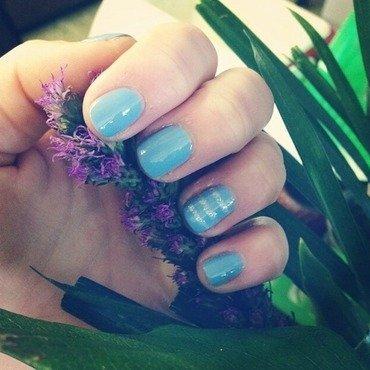 Simple blue nail art by Kayla