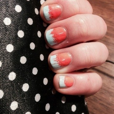 Fiery Gradient nail art by Kayla