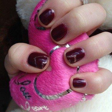 Dark Valentines Nails nail art by Kayla